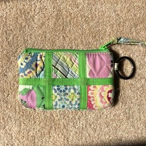 RARE Vera Bradley paneled coin purse